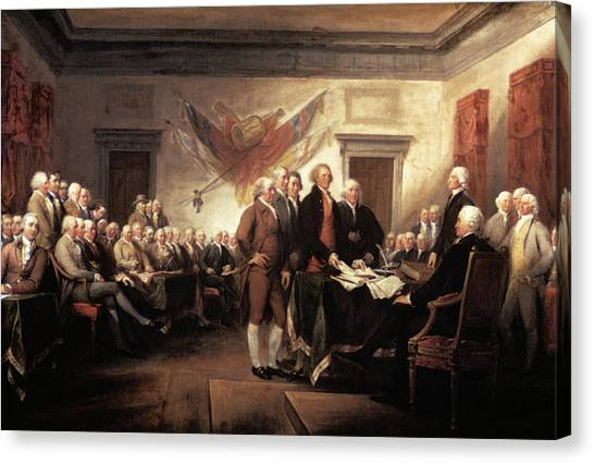Democratic Canvas Print - 1776 Signing Declaration by Vintage Images