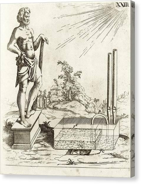 17th Century Solar-powered Sound Machine Canvas Print by Stephen A. Schwarzman Building/rare Books Division/new York Public Library