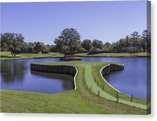 17th Hole Or Island Green At Tpc Sawgrass Canvas Print