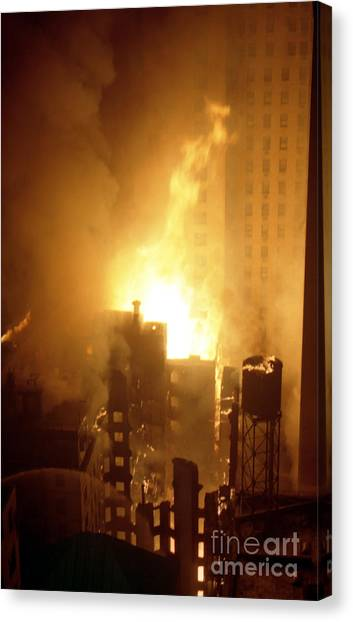 18 Alarm Hotel St George Fire Canvas Print