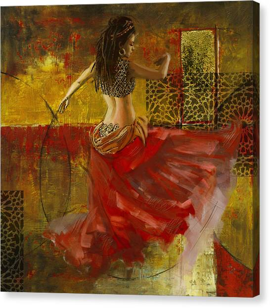 Egyptian Art Canvas Print - Abstract Belly Dancer 6 by Corporate Art Task Force