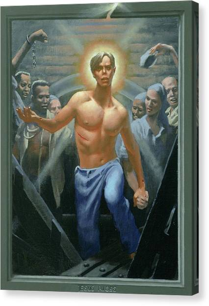 18. Jesus Rises / From The Passion Of Christ - A Gay Vision Canvas Print by Douglas Blanchard