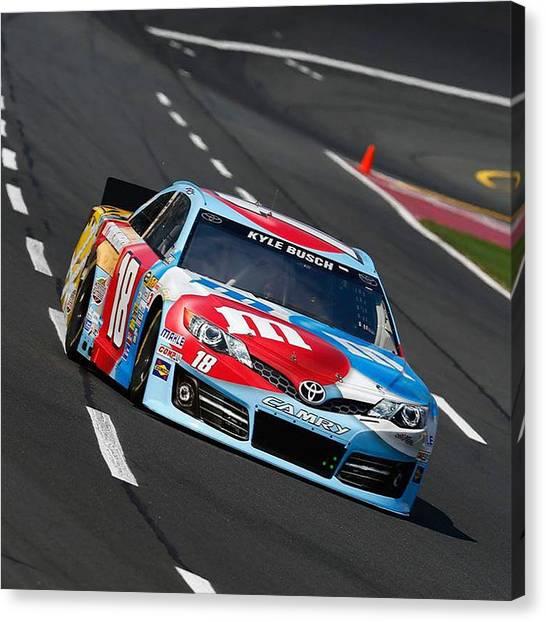 Racecar Drivers Canvas Print - #18 Kyle Busch by R A W M