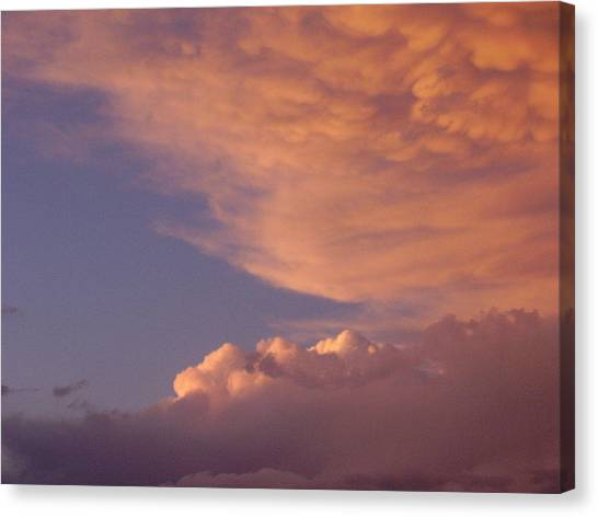 Montana Clouds Canvas Print by Yvette Pichette