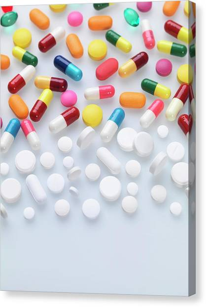 Health Insurance Canvas Print - Pills by Tek Image