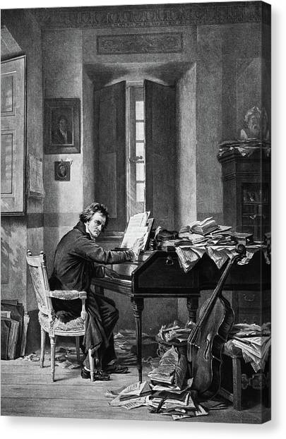 Compose Canvas Print - 1800s 1811 Painting By Schloesser by Vintage Images
