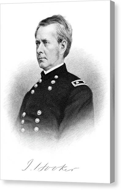Army Of The Potomac Canvas Print - 1800s 1860s Joseph Hooker Major General by Vintage Images