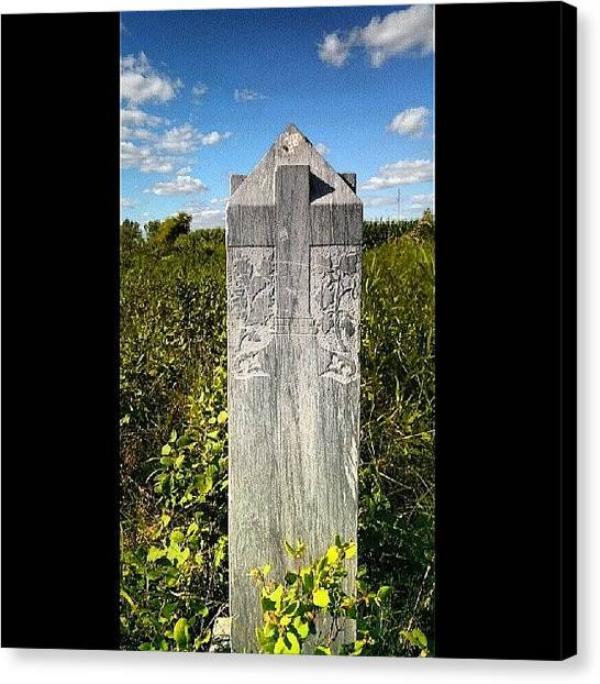 God Canvas Print - 1800's Tombstone by Aaron Kremer