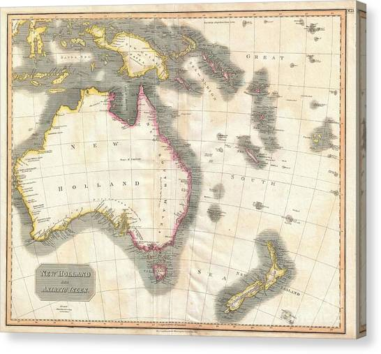 New caledonia canvas prints page 6 of 8 fine art america new caledonia canvas print 1814 thomson map of australia new zealand and new guinea by gumiabroncs Choice Image