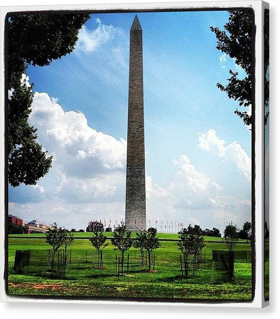 Washington Monument Canvas Print - Instagram Photo by Aaron Kahn