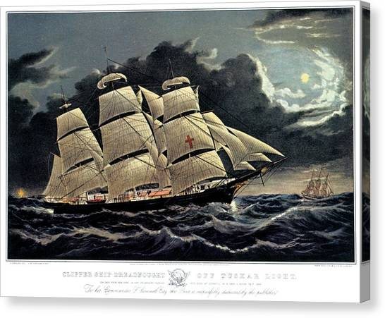 Dreadnought Canvas Print - 1850s Clipper Ship Dreadnought - by Vintage Images