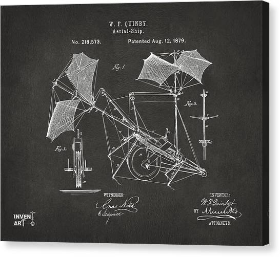 Airplane blueprint canvas prints page 5 of 19 fine art america airplane blueprint canvas print 1879 quinby aerial ship patent gray by nikki marie smith malvernweather Images