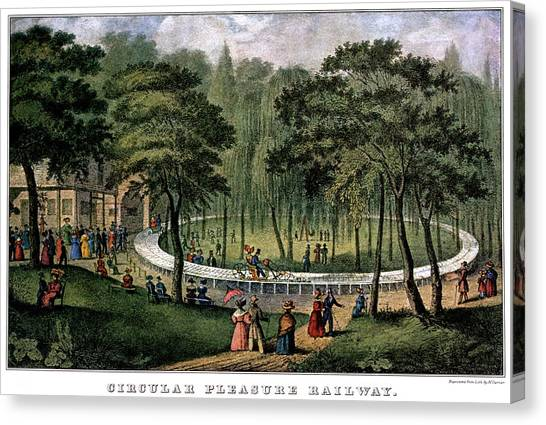 1880s Canvas Print - 1880s Circular Pleasure Railway - by Vintage Images