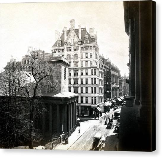1890 Tremont Street Boston Canvas Print