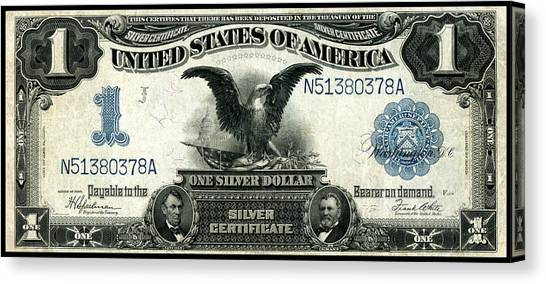 1899 One Dollar Silver Certificate Painting by Historic Image