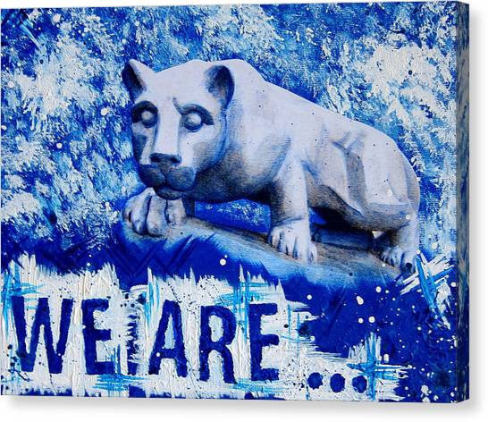 Pennsylvania State University Canvas Print - 18x24 We Are Penn State by Michelle Eshleman