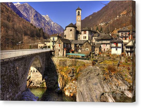 Verzasca River Canvas Print