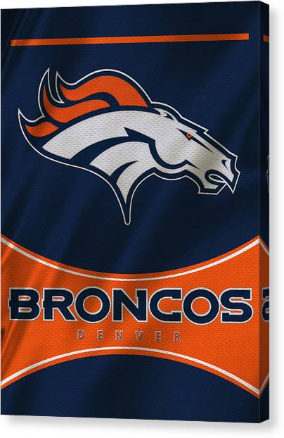 Denver Broncos Canvas Print - Denver Broncos Uniform by Joe Hamilton
