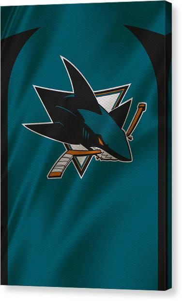 San Jose Sharks Canvas Print - San Jose Sharks by Joe Hamilton