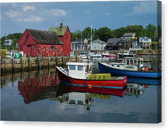 Usa, Massachusetts, Cape Ann, Rockport Canvas Print by Walter Bibikow
