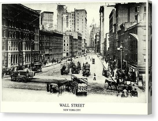 1900 Wall Street New York City Canvas Print