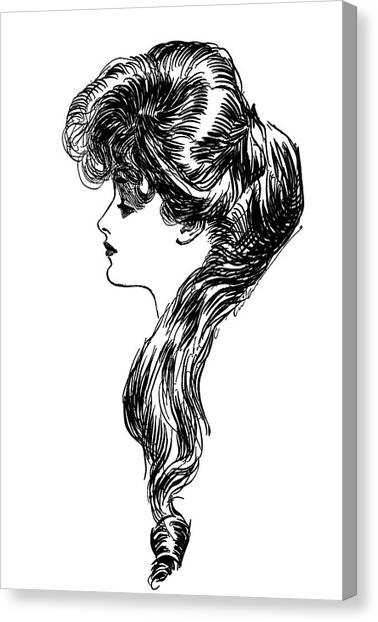 Independent Canvas Print - 1900s 1898 Profile Sketch Turn by Vintage Images