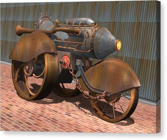 1902 Steam Trike Canvas Print