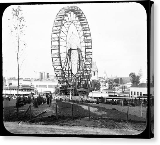 1904 Worlds Fair Observations Wheel Ferris Wheel Canvas Print