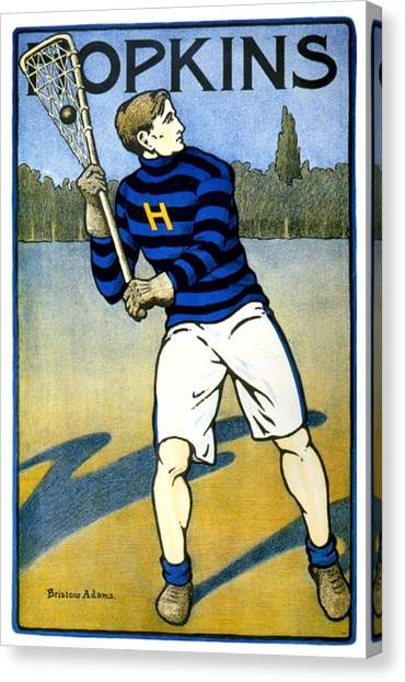 1905 - Johns Hopkins University Lacrosse Poster - Color Canvas Print
