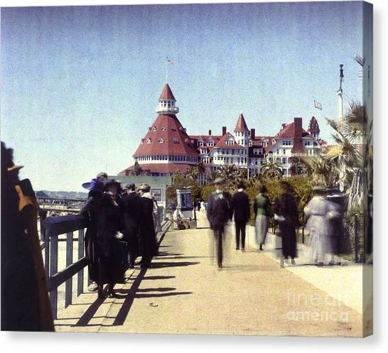 1906 Del Boardwalk Canvas Print