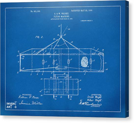 Blue cross canvas prints page 19 of 328 fine art america blue cross canvas print 1906 wright brothers airplane patent blueprint by nikki marie smith malvernweather Image collections