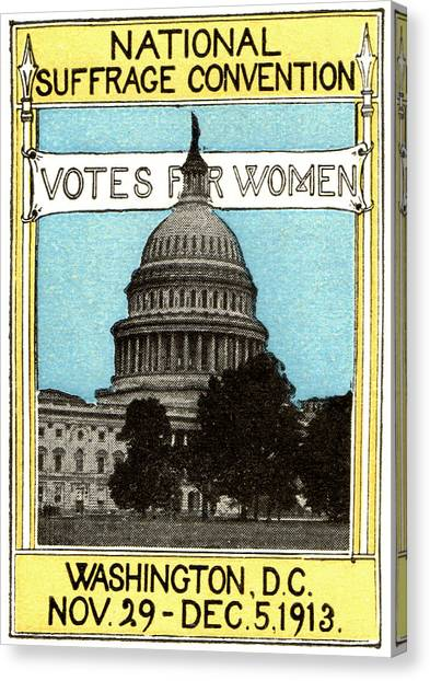 Womens Rights Canvas Print - 1913 Votes For Women by Historic Image