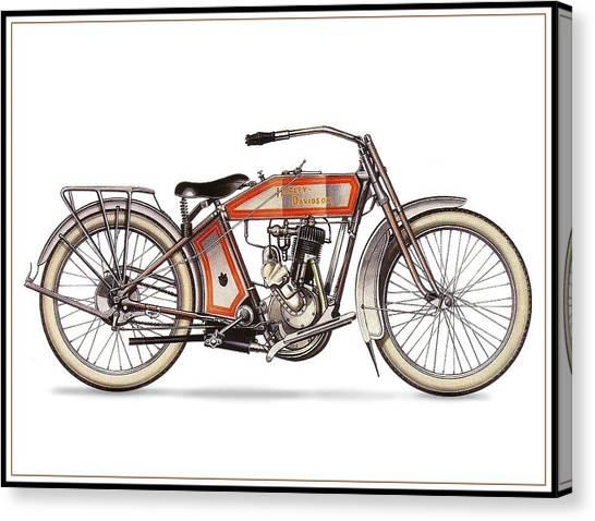 1914 Harley Davidson 35ci Model 10b Canvas Print