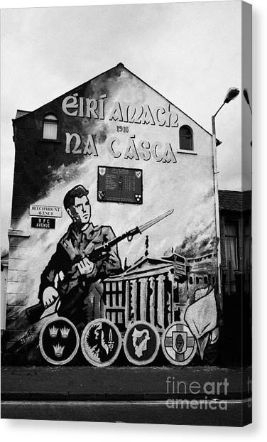 Street Fighter Canvas Print - 1916 Dublin Easter Rising Commemoration Republican Wall Mural Beechmount Rpg Belfast by Joe Fox