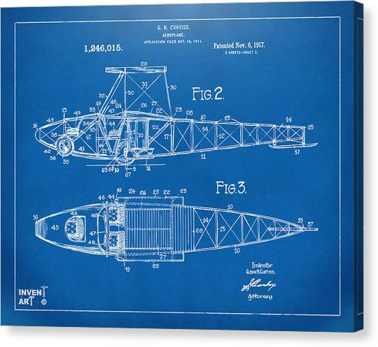 Airplane blueprint canvas prints page 5 of 19 fine art america airplane blueprint canvas print 1917 glenn curtiss aeroplane patent artwork 2 blueprint by nikki marie malvernweather Image collections