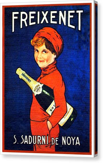 1920 - Freixenet Wines - Advertisement Poster - Color Canvas Print