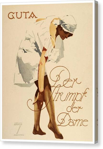 1920 - Guta Stockings Advertisement - Ludwig Hohlwein - Color Canvas Print