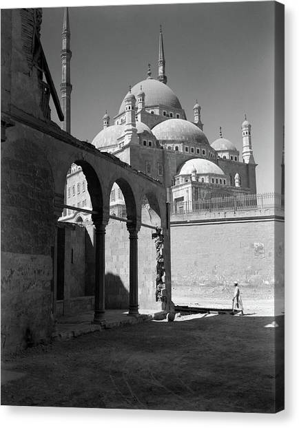 Alabaster Canvas Print - 1920s 1930s Cairo Egypt Architectural by Vintage Images