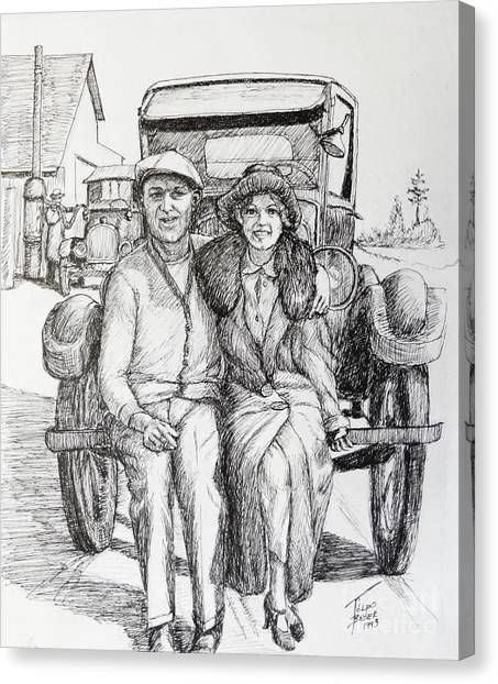 1920s Couple Canvas Print