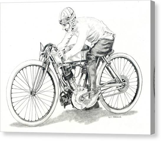 1920s Jap Board Track Racer Canvas Print By Donald Koehler