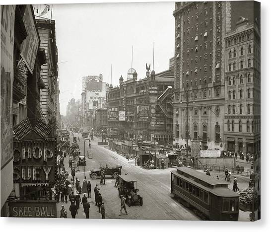 Chinese Restaurant Canvas Print - 1920s Overhead Sixth Avenue Hippodrome by Vintage Images