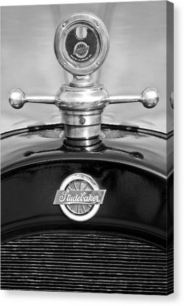 Touring Canvas Print - 1922 Studebaker Touring Hood Ornament 3 by Jill Reger