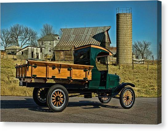 1923 Ford Model Tt One Ton Truck Canvas Print