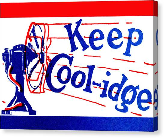1924  Keep Coolidge Poster Canvas Print