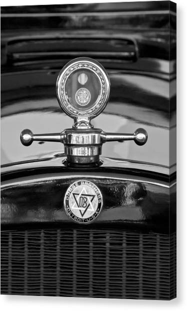 Dodge - Plymouth - Chrysler Automobiles Canvas Print - 1928 Dodge Brothers Hood Ornament - Moto Meter by Jill Reger
