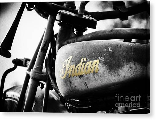 Scouting Canvas Print - 1928 Indian 101 Scout by Tim Gainey