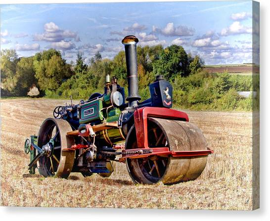 1929 Aveling Roller  Canvas Print