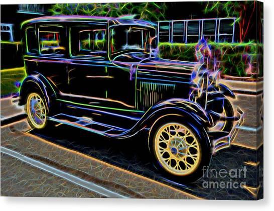 1929 Ford Model A - Antique Car Canvas Print