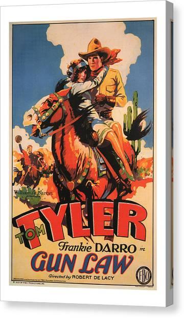 1929 Gun Law Vintage Movie Art Canvas Print