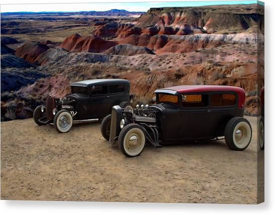 1930 And 1931 Ford Sedan Rat Rods Canvas Print